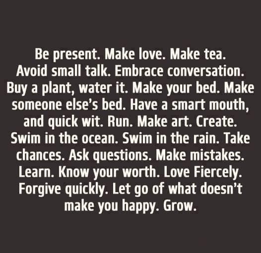 Be present, grow