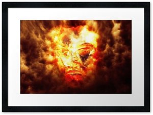 Fire_God_Redbubble_Framed_Print_black_bright_white_flat