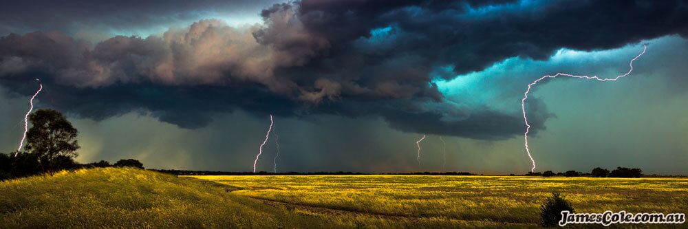 Plains of Thunder - Storm Photography by James Cole
