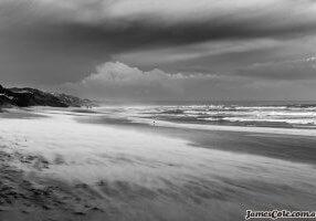 Venus Beach - Black & White landscape photography by James Cole