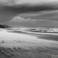 Venus Beach - Black & White landscape photography by James Cole